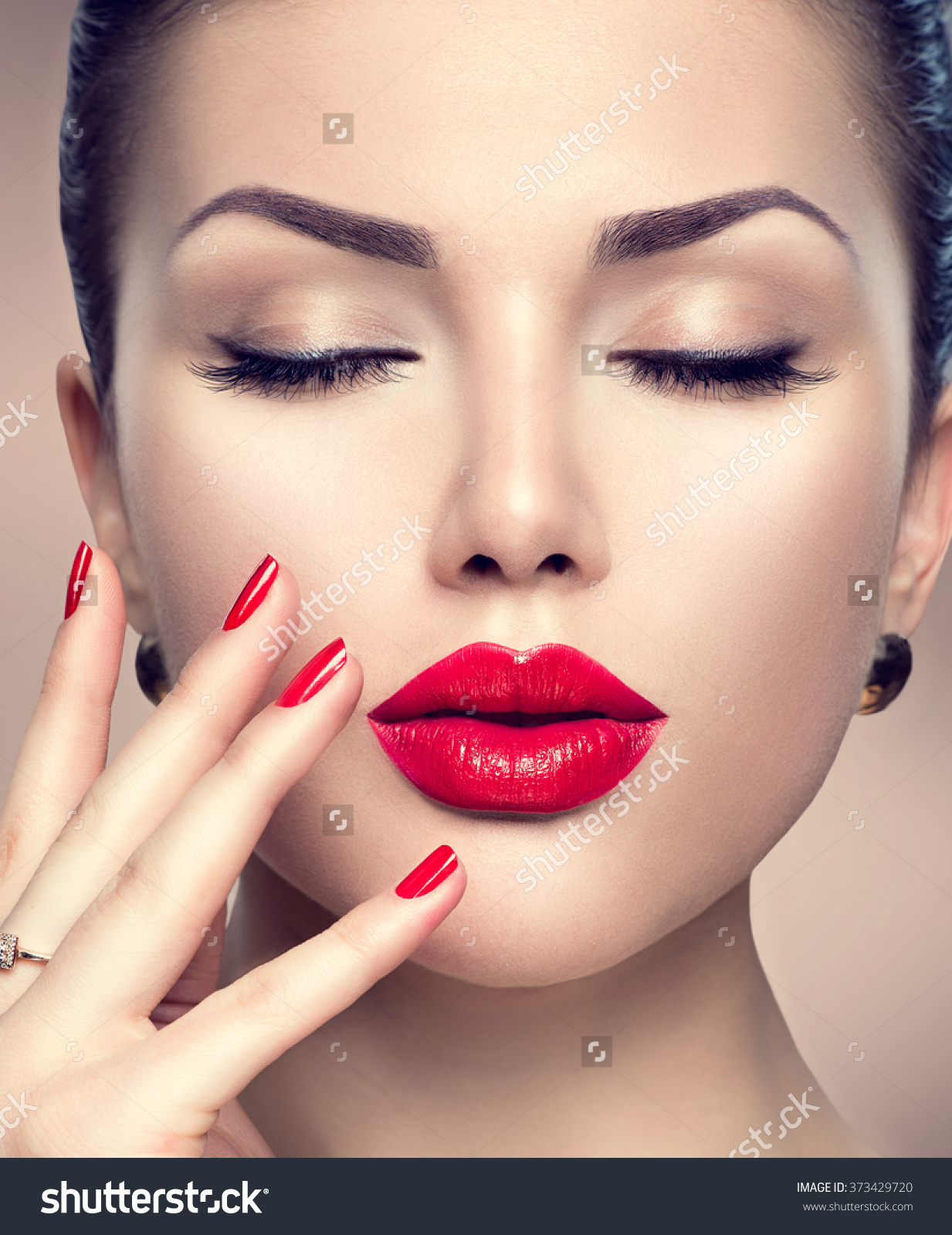 stock-photo-beautiful-fashion-woman-model-face-portrait-with-red ...